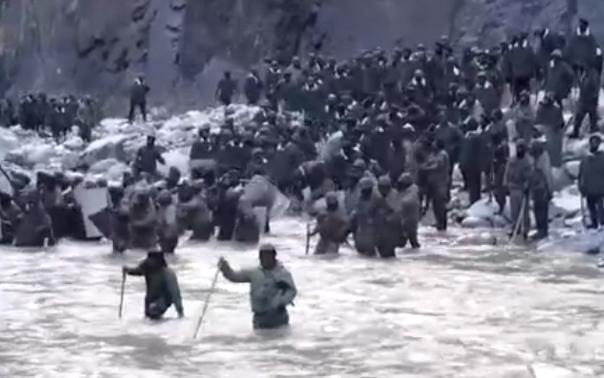 中印加勒万河谷冲突现场视频