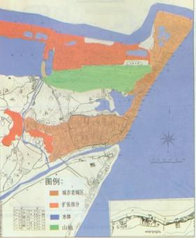 1909年汉阳城市空间扩张(采自《近代武汉城市空间