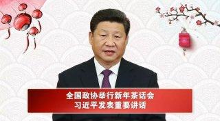 全国政协举行新年茶话